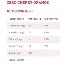 High5 Electrolyte Sports Drink Zero Tabs 20 Pieces, Cherry-Orange